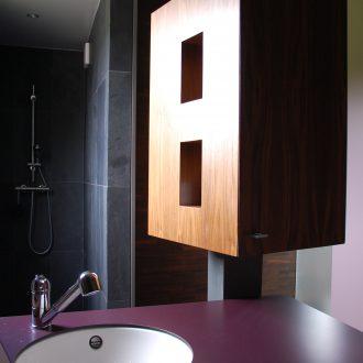 Détail finition salle de bain